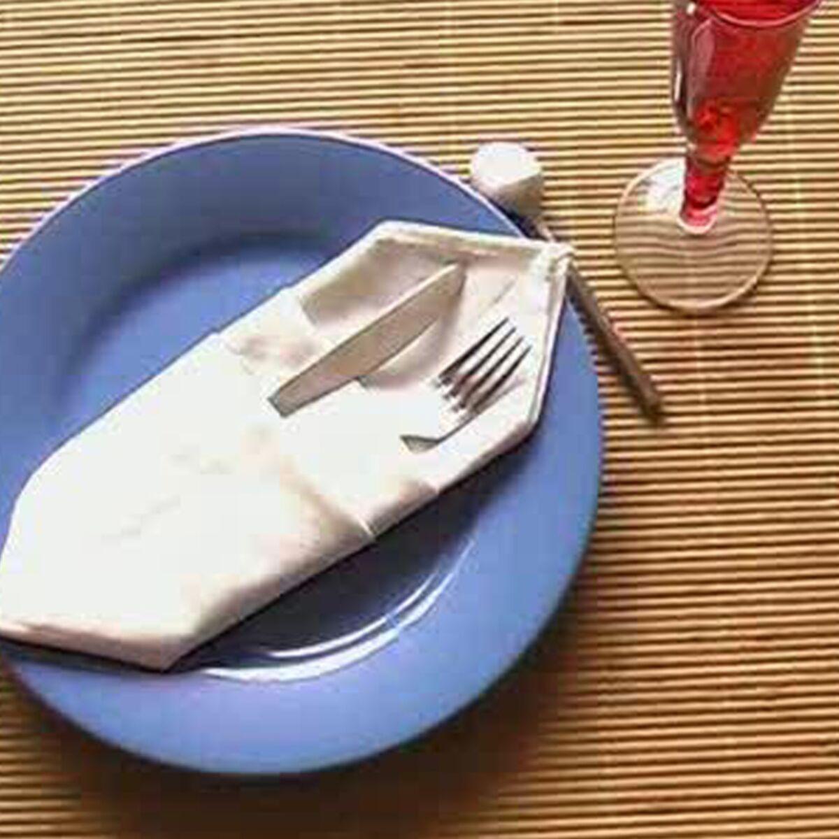 Pliage Serviette Facile Range Couverts pliage de serviette pour couverts : femme actuelle le mag