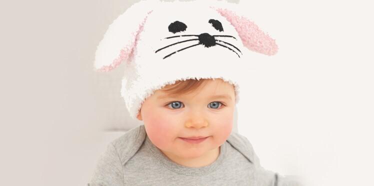 Un bonnet petit lapin à tricoter