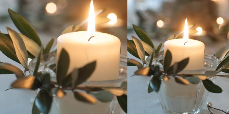 Des bougies avec des pots de confiture