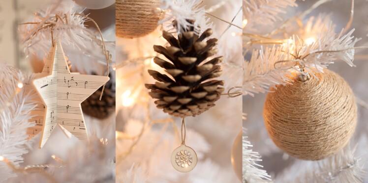 Des boules de Noël nature