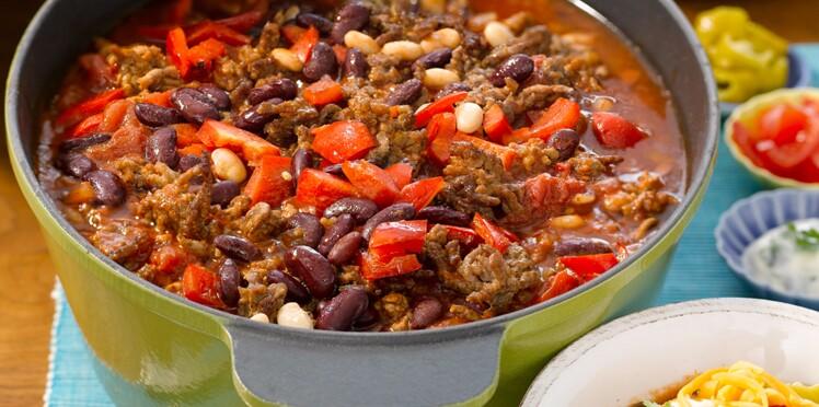 Chili con carne aux deux haricots