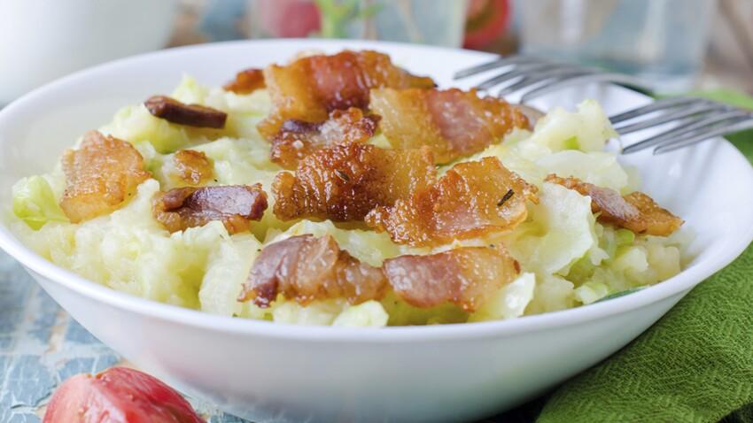 Ecrasée de pommes de terre au lard
