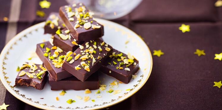 Lingots chocolatés aux fruits secs façon nougat