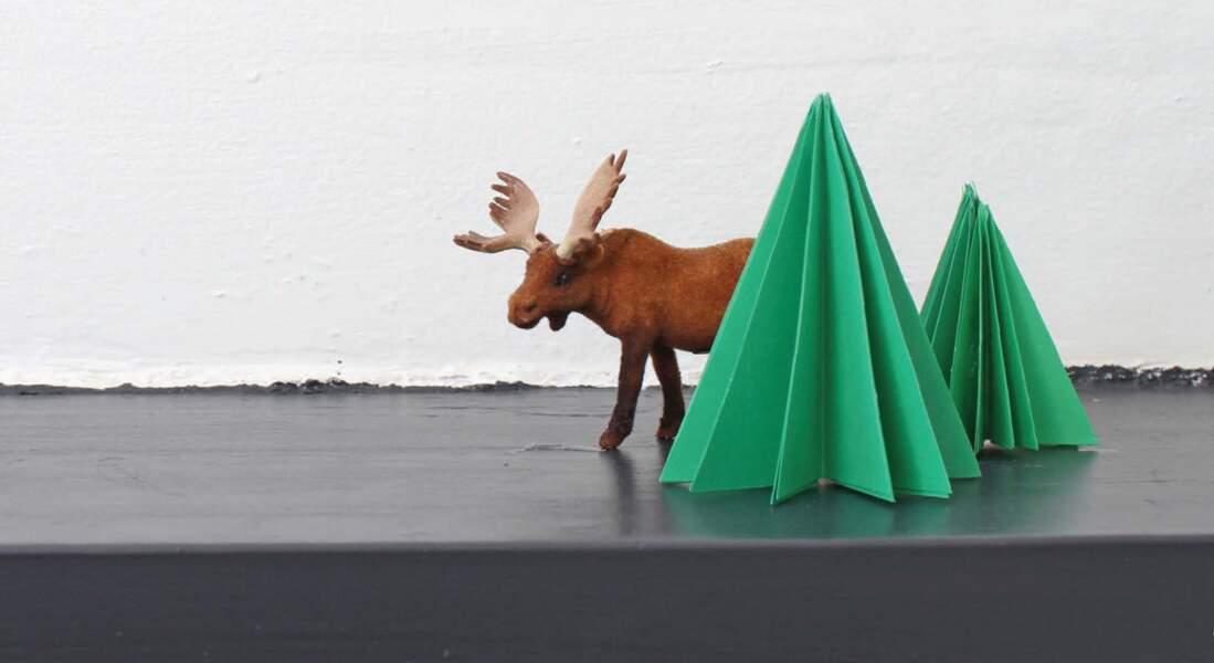 Un sapin en papier plié pour Noël