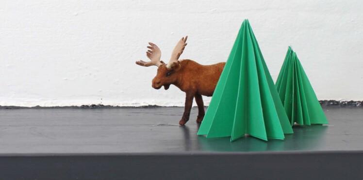 Un Sapin En Papier Plié Pour Noël Femme Actuelle Le Mag