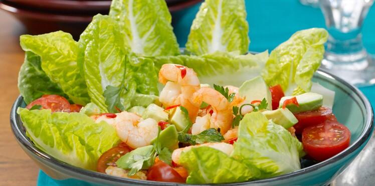 Salade de crevettes au citron vert