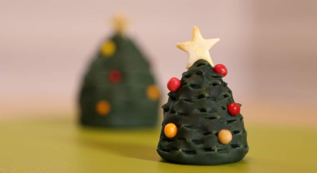 Un sapin de Noël en pâte à sucre