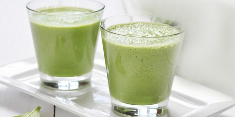 Smoothie vert au cresson