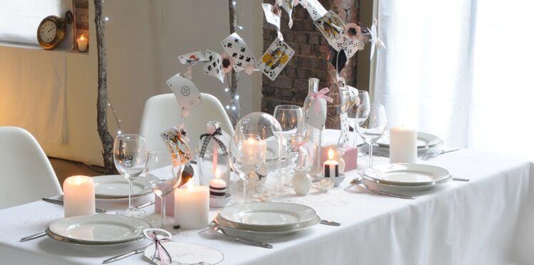 Déco de table féerique : Alice au pays des merveilles