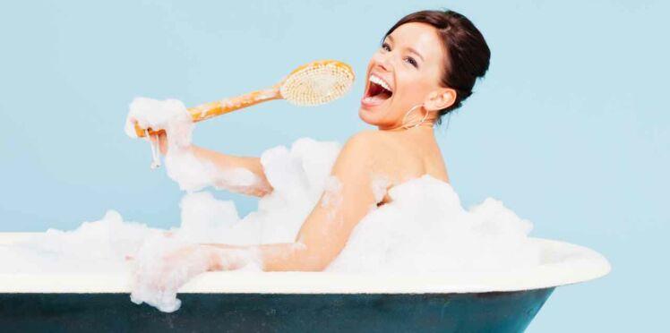 Des bulles dans la salle de bains