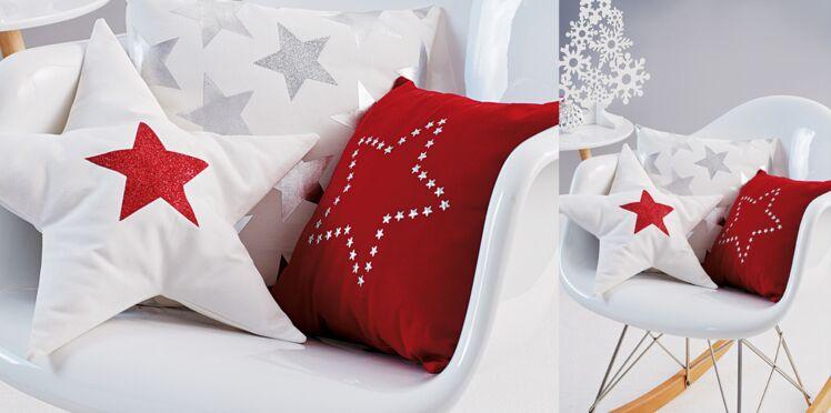 Des coussins à étoiles