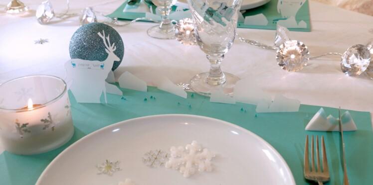 """Set de table et porte-couteau """"Grand Nord"""""""