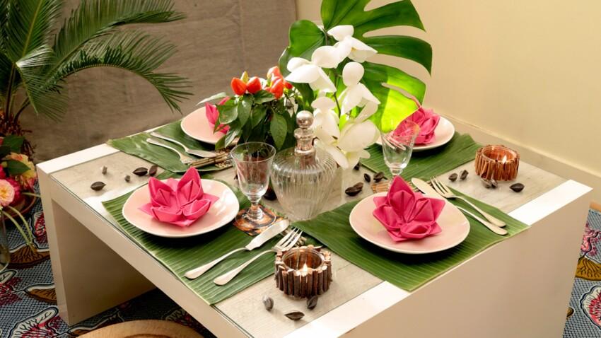 Décoration de table exotique