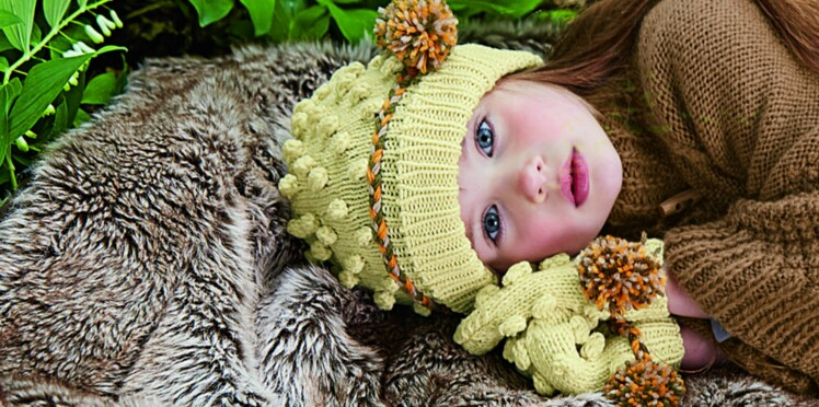 Bonnet et moufles enfant