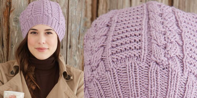Le bonnet à torsades   Femme Actuelle Le MAG d18c92edd4a