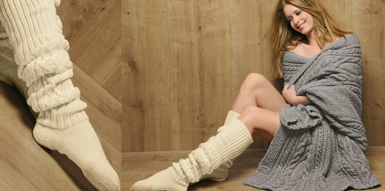 Les chaussettes hautes pour femme
