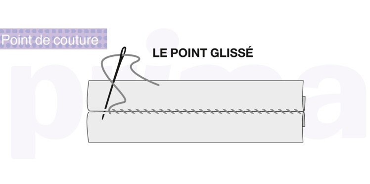 Couture : le point glissé