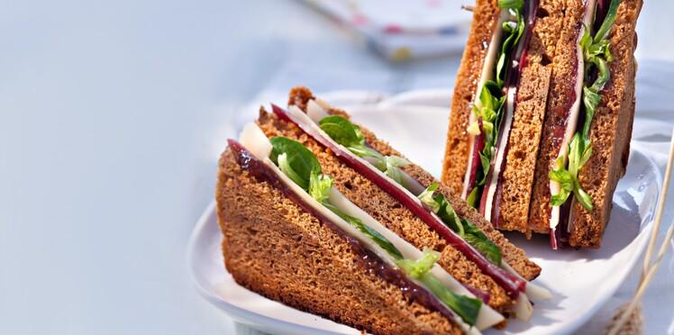 Club sandwichs au pain d'épice