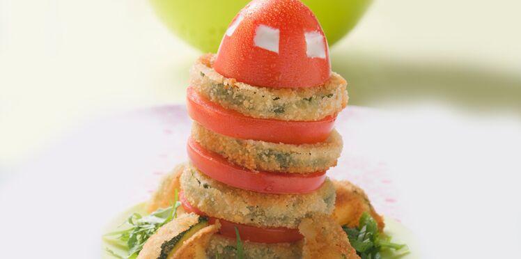 Fusée aux beignets de courgettes