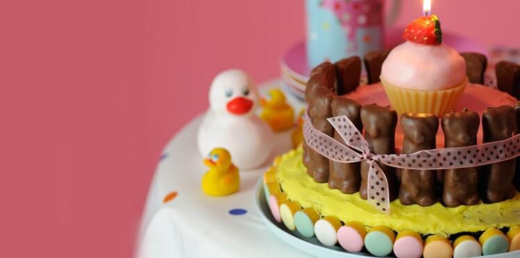 Anniversaire : un gâteau de bonbons