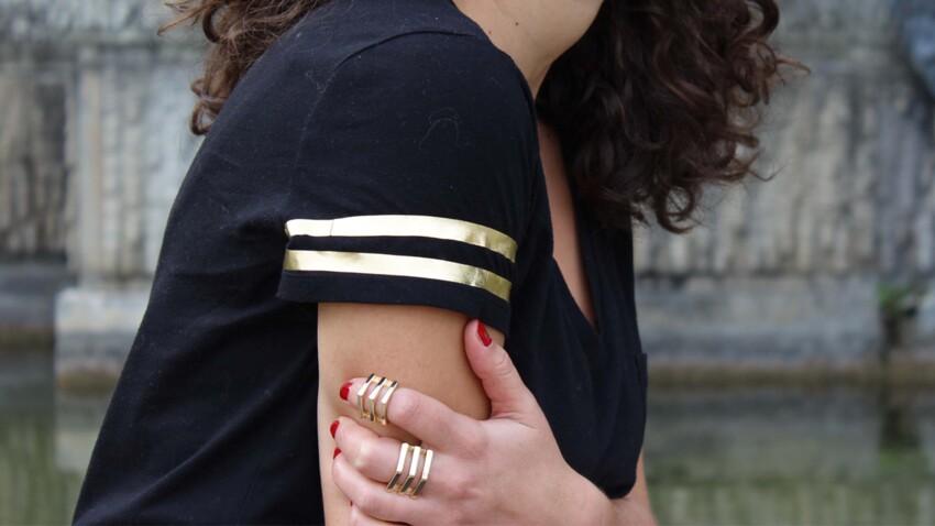 DIY mode : un tee-shirt doré