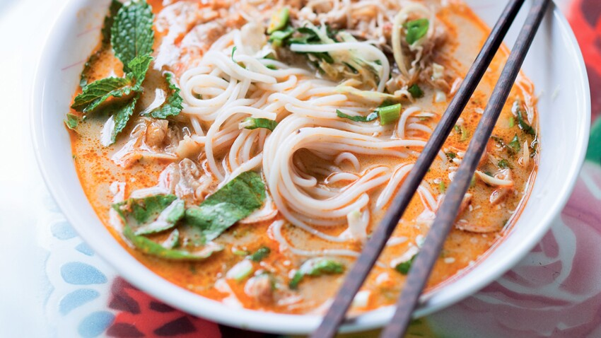 Khao poun aux nouilles de riz