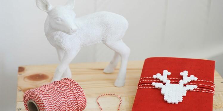 Décoration de Noël en rouge et blanc