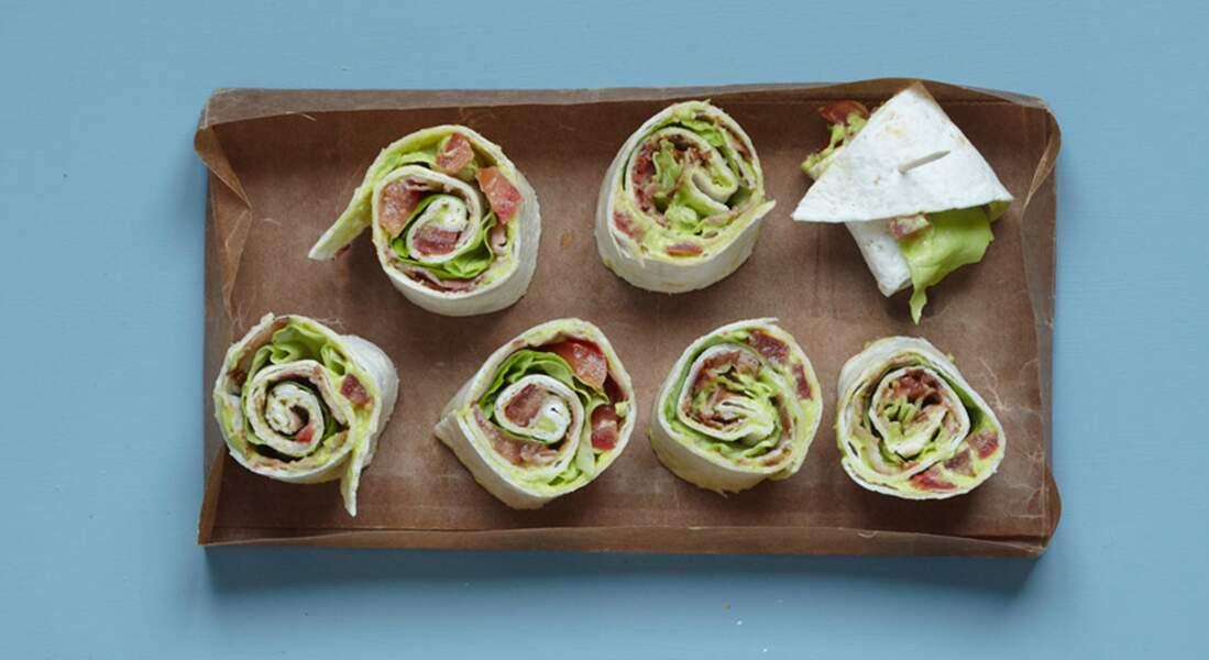 Wraps tomate et guacamole
