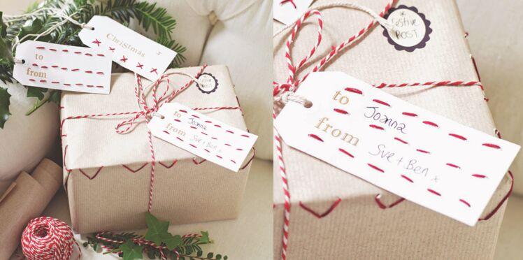 Des paquets cadeaux brodés