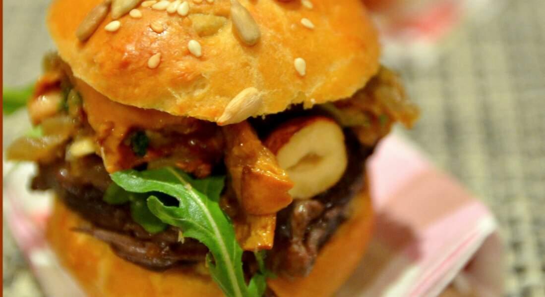 Mini-Burger forestier à la joue de bœuf