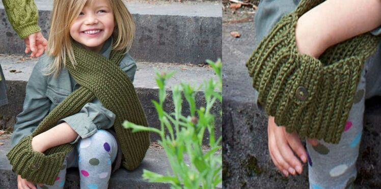 L'écharpe à poches pour enfant