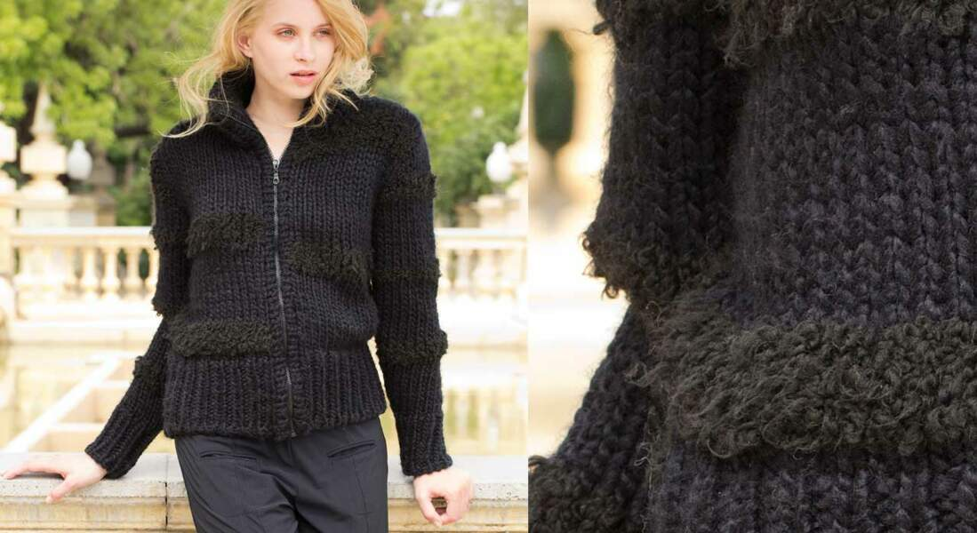Le blouson noir femme en jersey