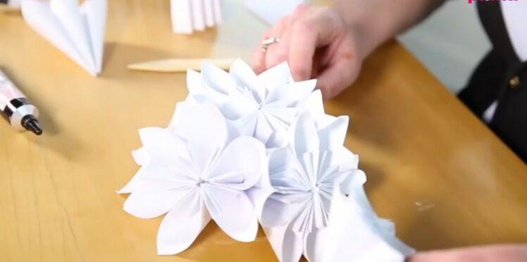 Origami facile : une fleur 3D