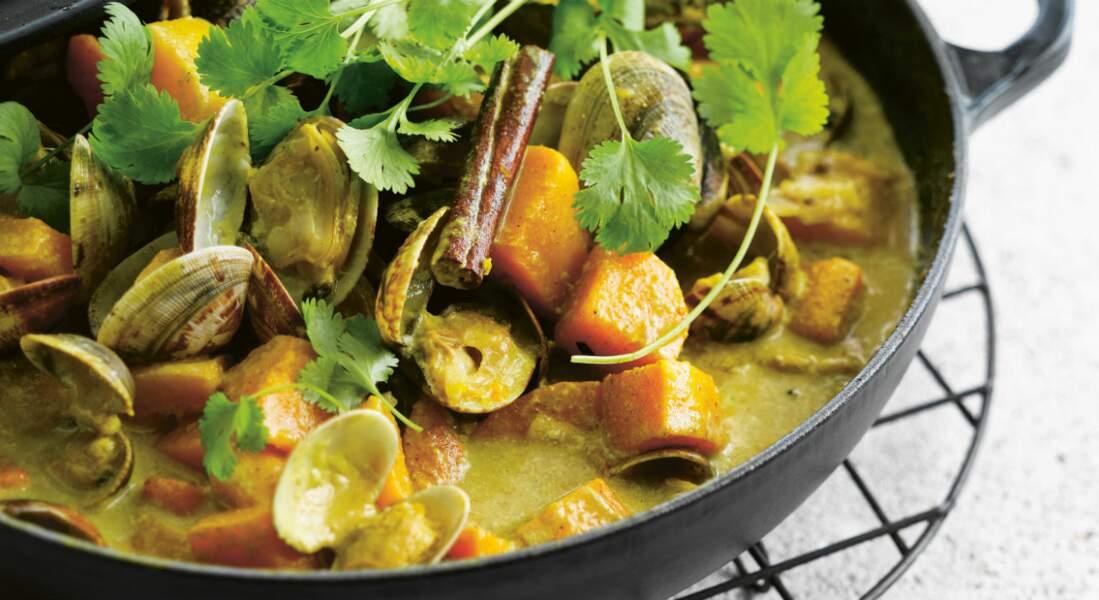 Curry de coquillages au potiron