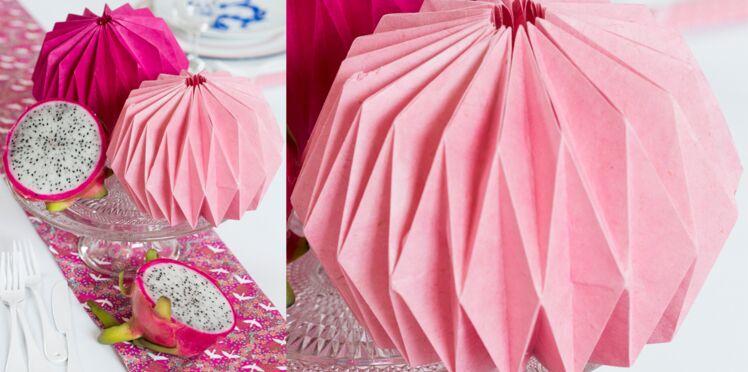Un lampion origami