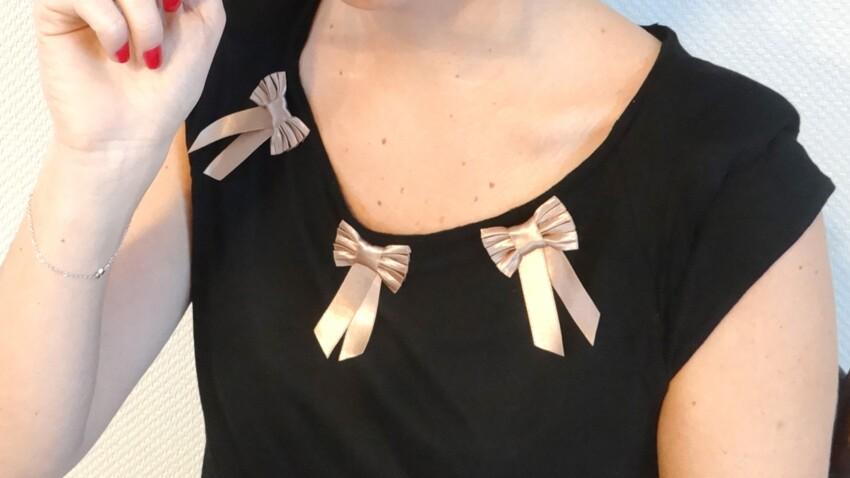 DIY facile : des noeuds sur mon t-shirt