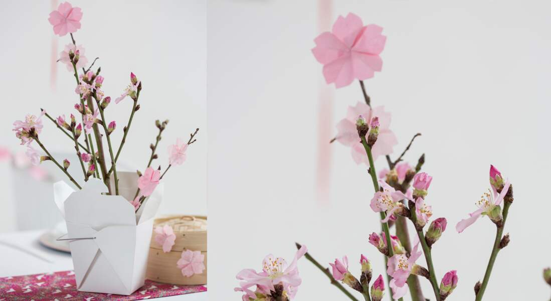 Origami facile : une fleur de cerisier