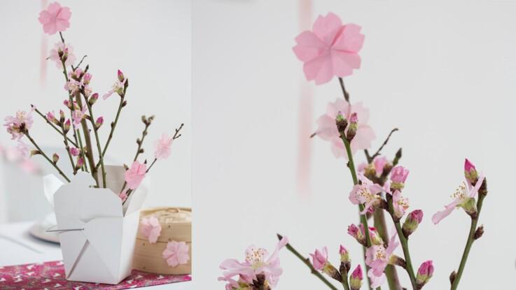 Origami Facile Une Fleur De Cerisier Femme Actuelle Le Mag