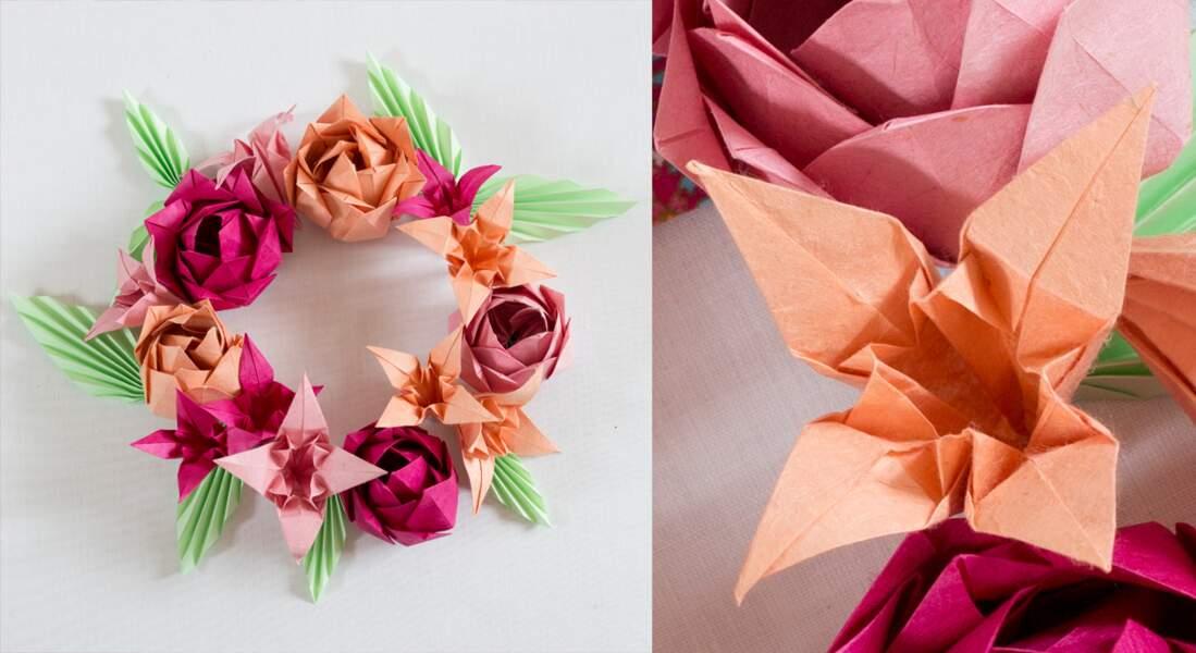 Origami : une fleur de lys