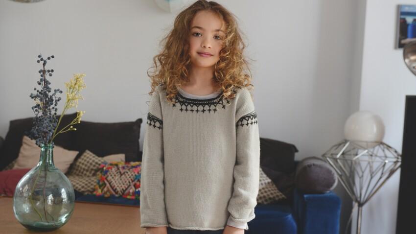 Un pull enfant original au tricot