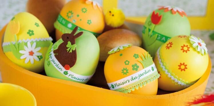 Mes œufs de Pâques en jaune et vert
