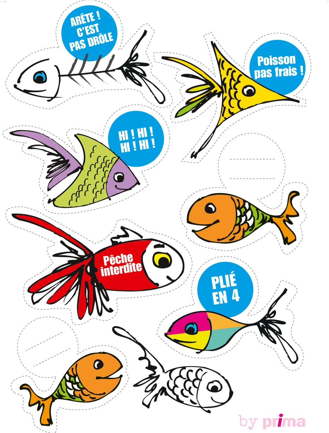 Des poissons d 39 avril imprimer femme actuelle le mag - Image de poisson a imprimer ...