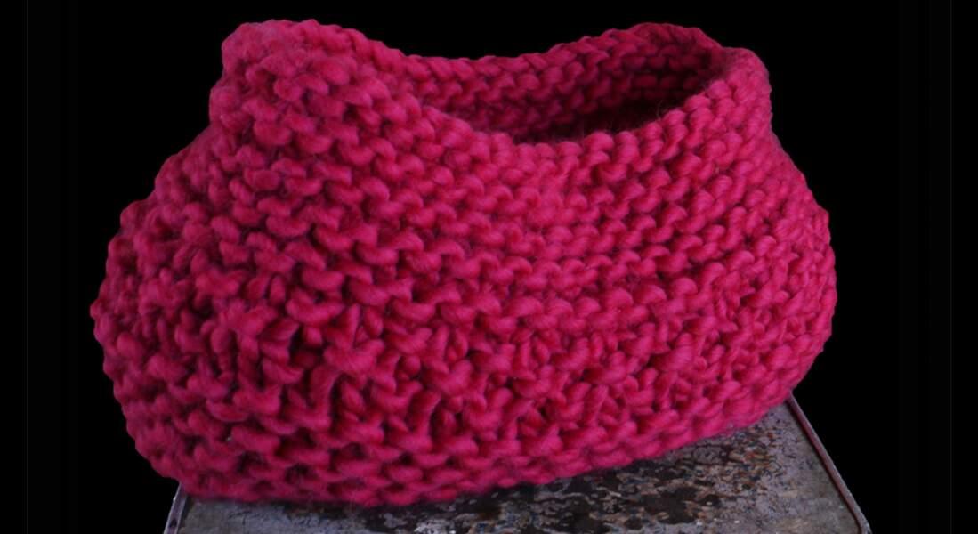 Un panier à tricoter