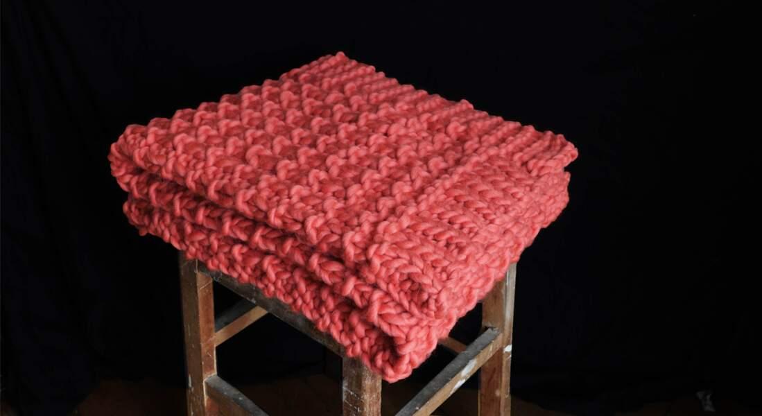 Un plaid à tricoter