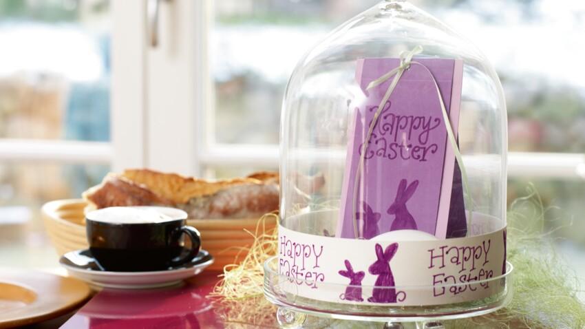 Une carte sous cloche pour Pâques