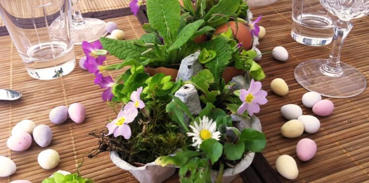 Pâques : un centre de table récup'