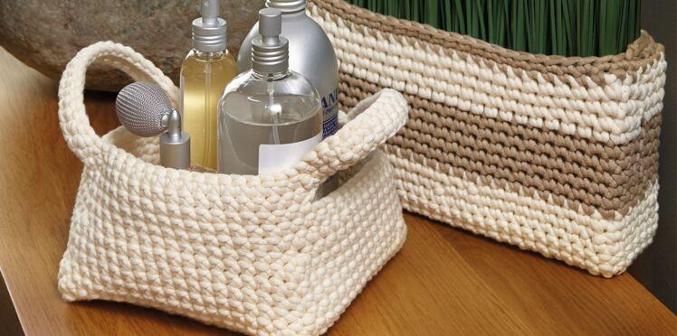 Salle de bain : des rangements à crocheter