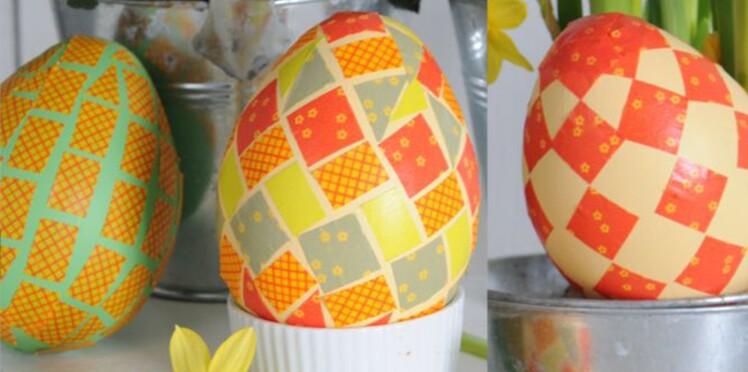 Un œuf de Pâques au masking tape