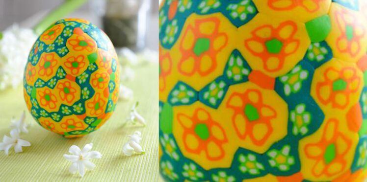 Pâques : un oeuf en mosaïque
