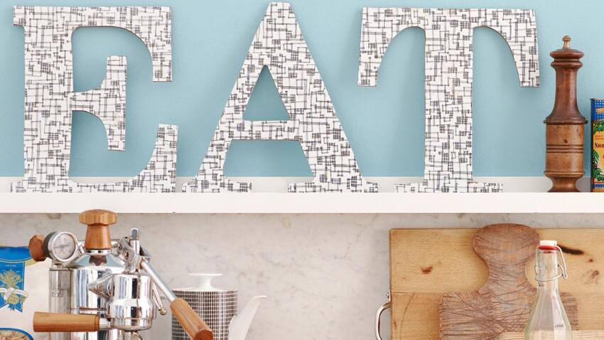 Déco de cuisine facile : des lettres en bois